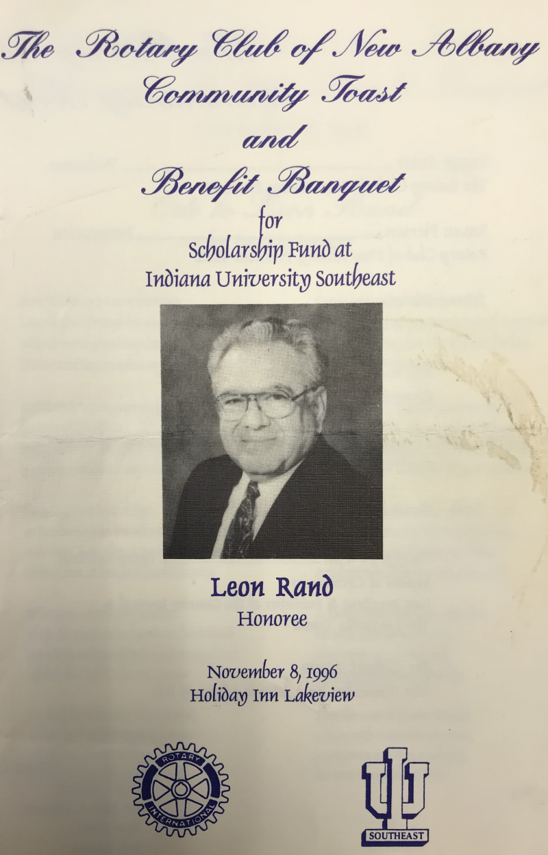 1996 honoree Leon Rand.