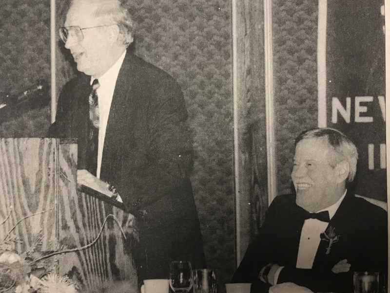 1994 Community Toast honoring Sam Robinson (seated).