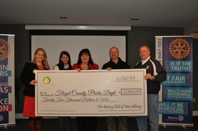 2014 honoree Diane Fischer selected the Floyd County Parks Department as the event's charitable beneficiary.
